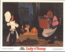 Lady And The Tramp original lobby card Disney 11x14 movie poster