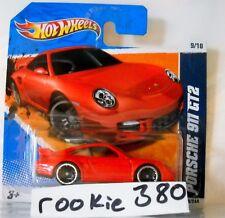2011 Hot Wheels NIGHTBURNERZ #119 *PORSCHE 911 GT2 GT 2 * RED SHORT CARD