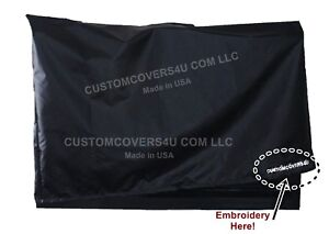 23'' Flat Monitor Black Water Repellent Dust Cover - 21''W x 2.5''D x 14.5''H