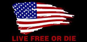 Live Free Or Die USA Flag Black Tactical Vinyl Decal Bumper Sticker