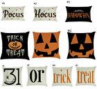 4Pack Happy Halloween Pillow Cases Home Sofa Pumpkin Cotton Linen Cushion Cover