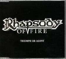 RHAPSODY OF FIRE triumph or agony CD PROMO slimcase Symphonic Power Metal