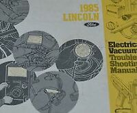 1985 FORD LINCOLN TOWN CAR Electrical Wiring Diagram EVTM Service Shop Manual