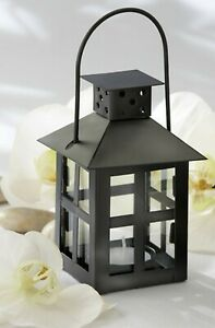 Black Mini Lantern Beach Garden Wedding Table Decor Party Favors MW30353
