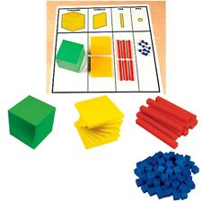 MAB Base Ten Maths Blocks for Student Place Value Activities INCLUDES the PV Mat