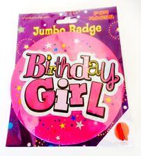 Pink Birthday Girl Badge