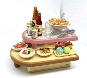 Japan Sylvanian Families  FOOD CORNER BUFFET Dollhouse Miniature Figure Toy