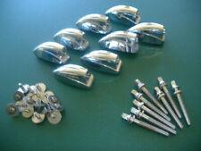 """Set Of 8 Ludwig 2"""" Mount Tom Drum Lugs w Original Mounting Screws & Tension Rods"""