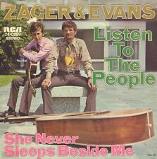 """ZAGER & EVANS – Listen To The People (1969 RARE PROMO VINYL SINGLE 7"""" GERMANY)"""