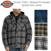 Dickies Men's TJ201 Relaxed Fit Hooded Quilted Plaid Shirt Jacket