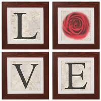 "Original Fine Art Photography set of prints & 4 frames ""LOVE"""
