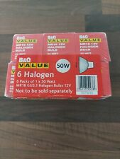 B&Q Value MR16 12V HALOGEN BULB 50W X6
