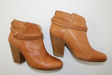 Rag & Bone Harrow Braided brown leather Ankle Boots sz EU 38.5 / US 8.5