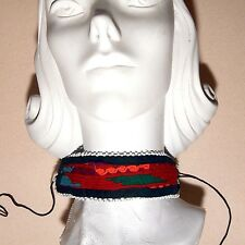 Kuchi Tribe BellyDance Ats Central Asia Embroidered Choker 798w7