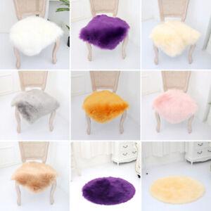 Simple Faux Wool Floor Mat Small Plush Carpet Polygon Home Chair Cushion Home