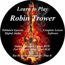 Robin Trower Guitar TAB Lesson CD 21 Songs! + Backing Tracks + BONUS!