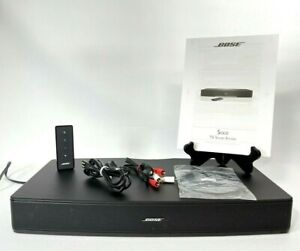 Bose Solo TV Sound System Sound Bar Speaker w/Remote, RCA & Optical Audio Cables