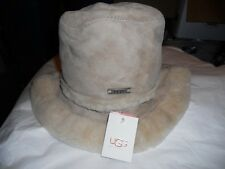 UGG Classic Ultra shearling suede hat O/S Sand,See Description Link for Pics