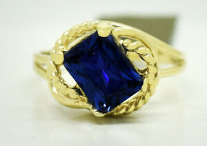 AAA 1.72 Cts TANZANITE RING 10K YELLOW GOLD ** New With Tag **
