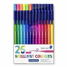 Staedtler Triplus Color 323 TB26 Felt-Tip Pens, 1.0mm, 26 Brilliant Colours
