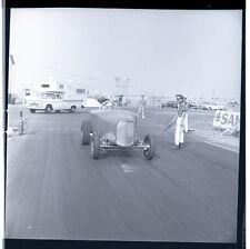 Old Dragster @ San Bernardino Raceway - Vintage B&W Drag Racing Negative