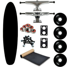 """Moose Longboard Complete 9"""" x 40"""" Kicktail Dipped Black - Easy and Fun to Build!"""