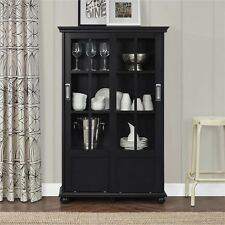 Cabinet Storage For Living Room Dining Kitchen Curio Display Furniture Bookcase