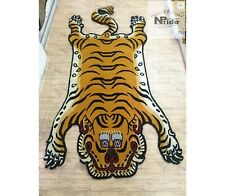 Tibetan Tiger Rug 3 different sizes 100 Knot Wool handmade in Nepal Yellow
