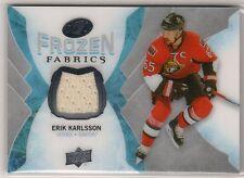 2016-17 Upper Deck Ice Frozen Fabrics Erik Karlsson Jersey