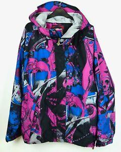 VOLCOM Nimbus 10000mm Men's Skiing Jacket Waterproof Ski Snowboard Pink Hooded