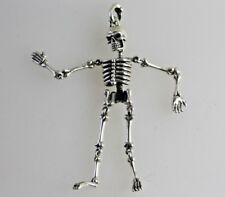 Silver Skeleton Pendant moveable joints