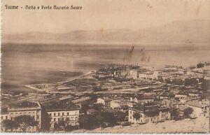1924 FIUME OCCUPAZIONE SU CARTOLINA X GENOVA