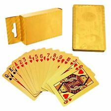 Naipes 24K Golden dólar £ 50 Hoja De Oro Completo Poker Alta Impermeable 54 Tarjetas