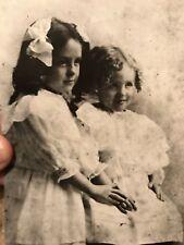 5 1/2 x 4    ANTIQUE PHOTOGRAPH   Circa 1910  2 Pretty Young Girls  See PICs!!!