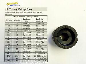95mm2 (37/1.78) Die Set / 12T Crimper Dies suit Australian Standard COPPER Lugs