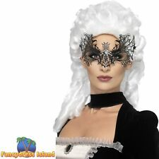 Embroidered Lace Filigree Eyemask Burlesque Women/'s Fancy Dress Costume