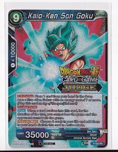 *Print Line* Kaio-ken Son Goku P-032 Judge Promo Dragon Ball Super Card Game