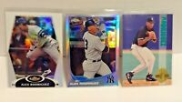 Alex Rodriguez (3) Card Lot: Topps Finest & Chrome Refractors & 1993 Classic RC