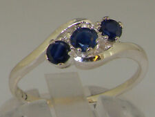 Unbranded Sapphire Round White Gold Fine Gemstone Rings