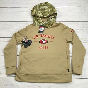 Nike Authentic Salute To Service SF 49ers Brown Camo Hoodie Jacket Women's Large