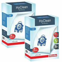 Miele GN Vacuum Bags HyClean 3D Genuine 8 Bags + 4 Filters Fits Complete C2