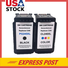 2 Packs PG-245XL Black & CL-246XL Color Ink for Canon PIXMA iP2820 MG2420 MX492