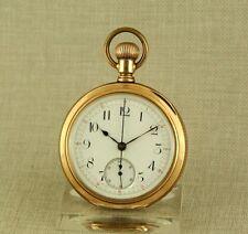 Extremely Rar AGASSIZ Chronograph Taschenuhr Uhr Herren Uhren pocket watch gold