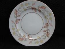 Woodhue by Harmony House Bread & Butter Plate Brown/Pink Leaves Pale Yellow b16