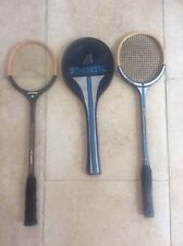 2 Vintage 1980s Squash Rackets , one with original Racket cover , nice condition