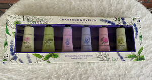 Crabtree & Evelyn Hand Therapy Collection Gift Box Set 6 Piece Travel Purse NIB