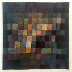 """PAUL KLEE 1967 AUTHENTIC LITHOGRAPH PRINT """"ANCIENT SOUND ABSTRACT ON BLACK"""" 1925"""