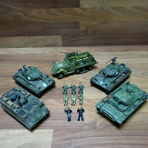 21st Century Toys Lot; 3 Tanks, Half Track, Armored Personal Carrier, 8 Soldiers