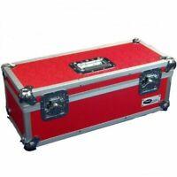 """Neo 7"""" Inch LP 300 Vinyl Record Aluminium Flight DJ Storage Case Red Color UK"""