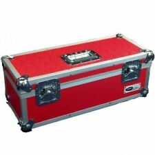 "Neo 7"" Inch LP 300 Vinyl Record Aluminium Flight DJ Storage Case Red Color UK"